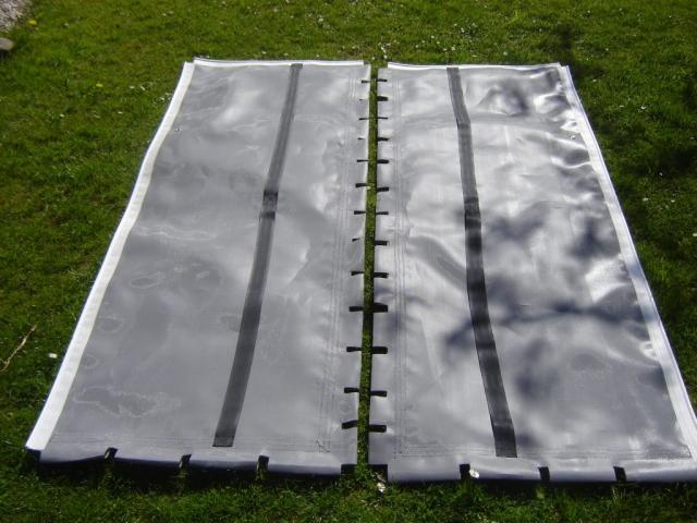 Graues Trampolin für einen selbstbau Novacat 15 im Materialpaket.