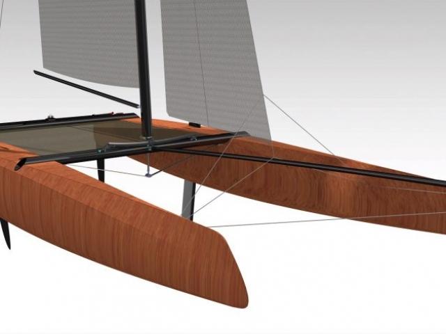 F16 catamaran boat design Katamaran Boot selber bauen Bauplan Novacat 16