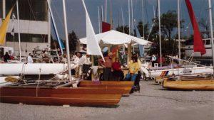 Segelboote von Novacat auf der Messe Boot in Düsseldorf